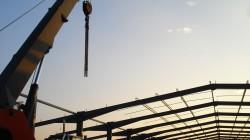 Construction du l'extention du batiment RIVIERE de Vinay en Août 2006